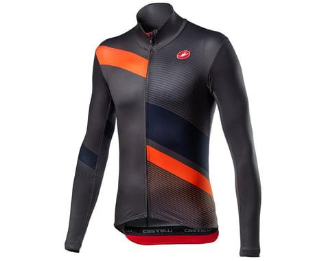 Castelli Mid Thermal Pro Long Sleeve Jersey (Dark Grey/Orange) (M)