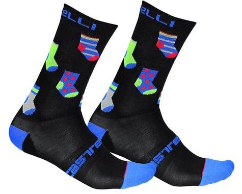 Castelli Men's Pazzo 18 Socks (Black) (S/M)