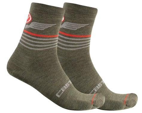 Castelli Men's Lancio 15 Socks (Military Green) (S/M)