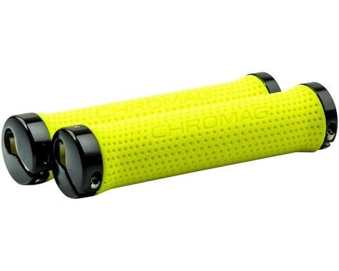 Chromag Basis Grips (Neon Yellow) (Lock-On)