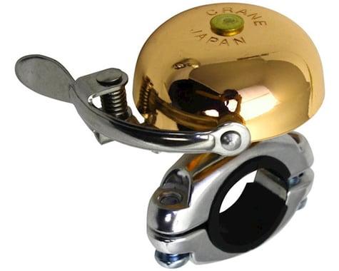 Crane Suzu Mini Brass Bell (Gold) (Handlebar Mount)