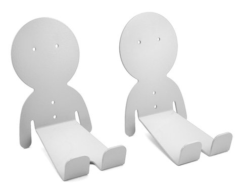 DaHANGER Dan Pedal Hook Set (White) (2 Pack)