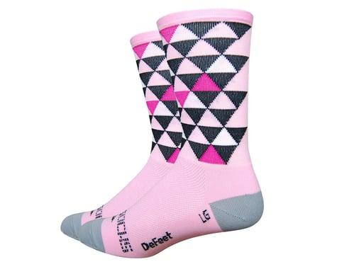DeFeet Sako7 Pro Solitude Socks (Light Pink/Black Triangles)