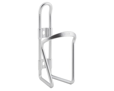 Delta Alloy Water Bottle Cage (Silver)