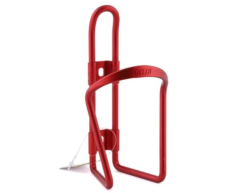 Delta Alloy Water Bottle Cage (Red Anodized)