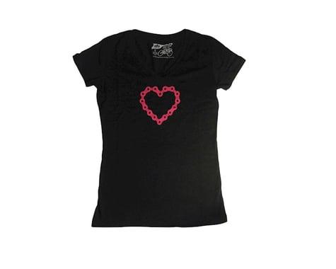 Dhdwear Chainheart Womens Tee (Black) (S)