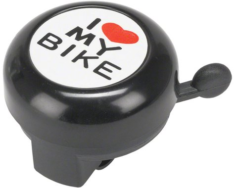 """Dimension """"I Heart My Bike"""" Black Bell"""
