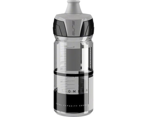 Elite Crystal Ombra Water Bottle (Clear w/ Grey Graphics) (18.5oz)