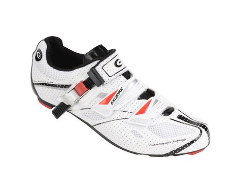 Exustar SR4102KB Carbon Road Shoes (White/Black)