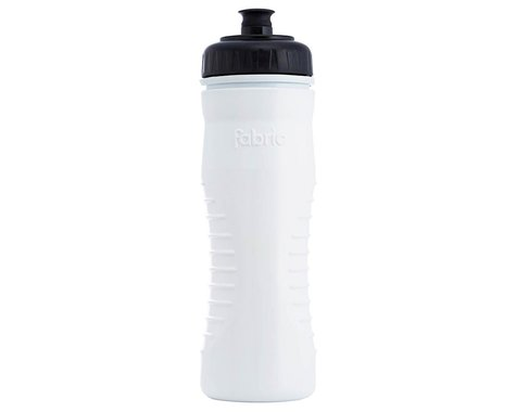 Fabric Internal Insulated Cageless Water Bottle (White/Black) (20oz)