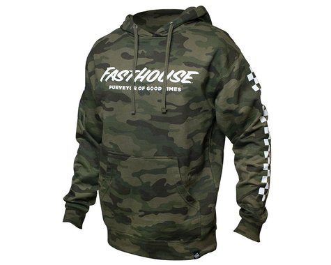 Fasthouse Inc. Logo Hooded Pullover (Camo) (S)
