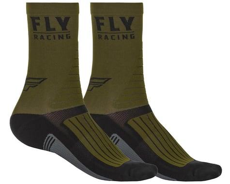 Fly Racing Factory Rider Socks (Green/Black/Grey) (S/M)