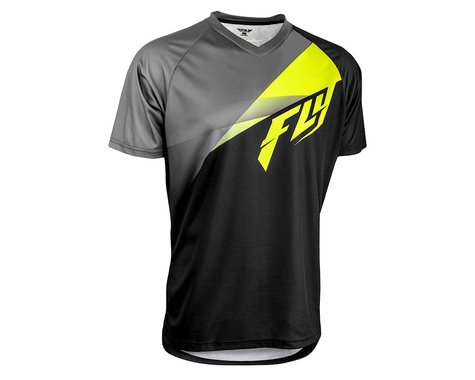 Fly Racing Super D Jersey (Black/Lime/Grey) (S)
