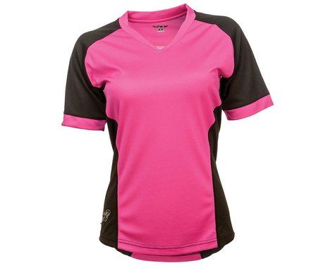Fly Racing Lilly Ladies Jersey (Black/Pink) (XS)