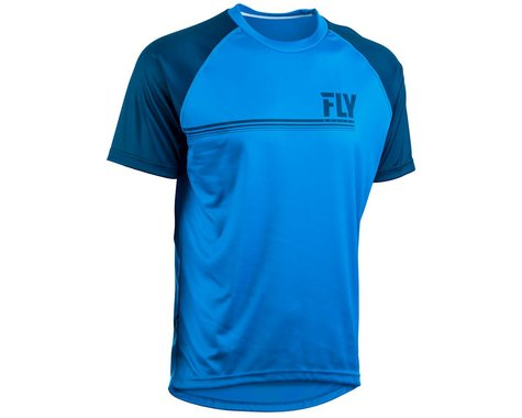 Fly Racing Action Jersey (Blue/Charcoal Grey) (L)