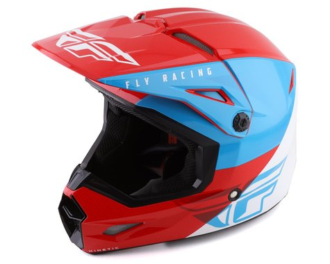 Fly Racing Kinetic K120 Youth Helmet (Blue/White/Red)