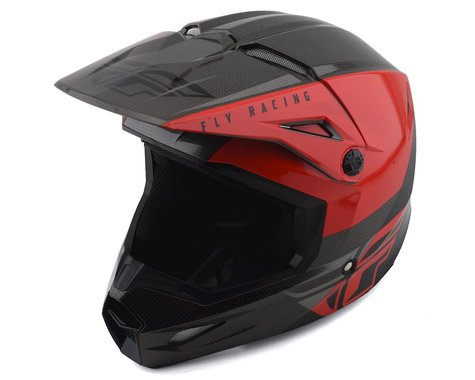 Fly Racing Kinetic K120 Helmet (Red/Black/Grey) (M)