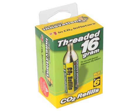 Genuine Innovations CO2 Cartridges (Silver) (Threaded) (6 Pack) (16g)
