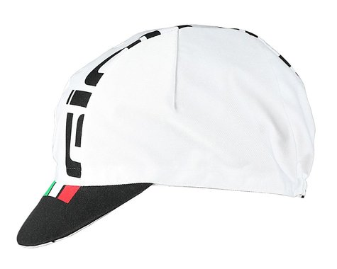 Giordana Logo Cotton Cycling Cap (White/Black) (One Size Fits Most)