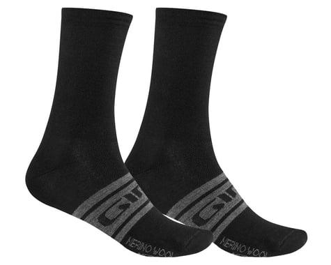 Giro Merino Seasonal Wool Socks (Black/Charcoal Clean) (L)