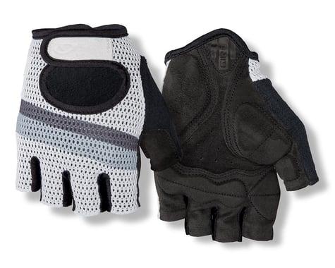 Giro SIV Retro Short Finger Bike Gloves (White/Grey Stripe)