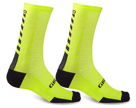 Giro HRc+ Merino Wool Socks (Bright Lime/Black) (S)