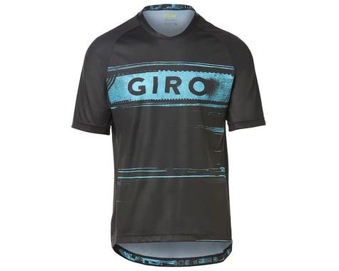 Giro Men's Roust Short Sleeve Jersey (Black/Iceberg Hypnotic) (XL)