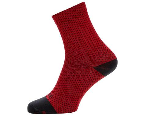 Gore Wear C3 Dot Mid Socks (Red/Black) (M)