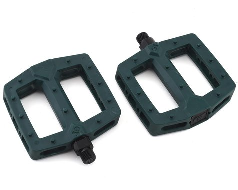 "GT PC Logo Pedals (Green) (Pair) (9/16"")"