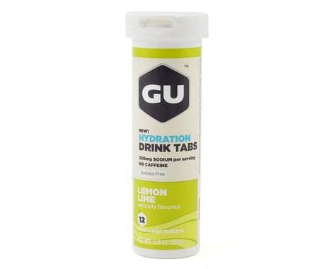 GU Hydration Drink Tablets (Lemon Lime) (8 Tubes)