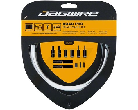 Jagwire Road Pro Brake Cable Kit (White) (Stainless) (1500/2800mm) (2)