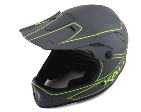 Kali Alpine Rage Full Face Helmet (Matte Grey/Fluorescent Yellow) (Youth L)