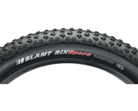 "Kenda Slant 6 Mountain Tire (Black) (20"") (2.6"")"