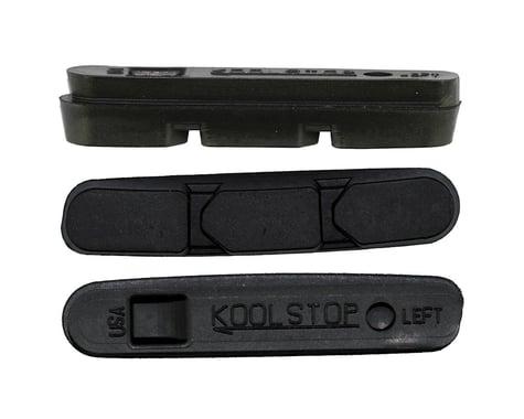 Kool Stop Super Record Brake Pad Inserts - Black and Salmon (Black)