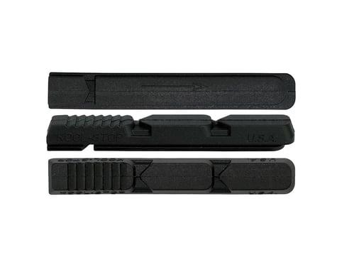 Kool Stop XT V Type 2 Brake Pad Inserts - Black and Salmon (Black)