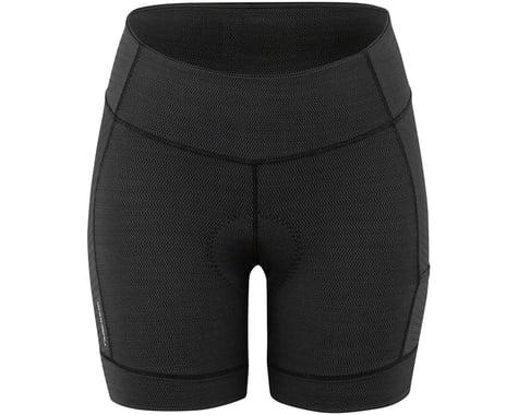 Louis Garneau Women's Fit Sensor Texture 5.5 Shorts (Black) (S)