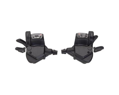 Microshift Mezzo TS39 Thumb-Tap Trigger Shifter Set (Black)