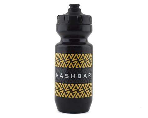 Nashbar Water Bottle w/ MoFlo Lid (Stripe) (22oz)