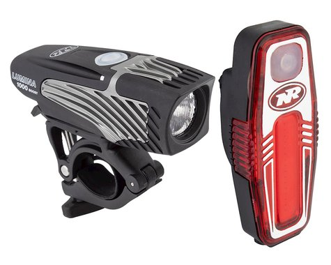NiteRider Lumina 1000 Boost/Sabre 110 Headlight & Tail Light Set (Black)