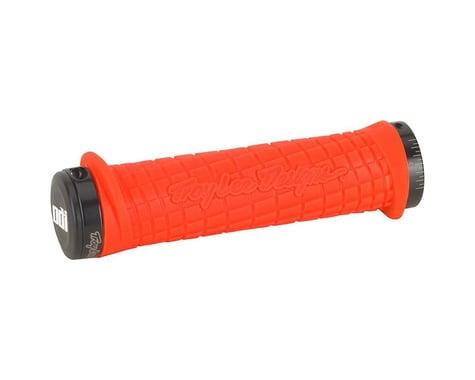 ODI Troy Lee Designs Signature Series Lock-On Grip Set (Orange/Black) (130mm)