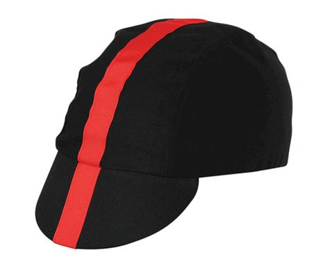 Pace Sportswear Classic Cycling Cap (Black/Red) (Universal Adult)