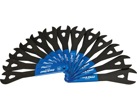 Park Tool SCW-SET.3 Cone Wrench Set (Blue/Silver) (13-24, 26, & 28mm)