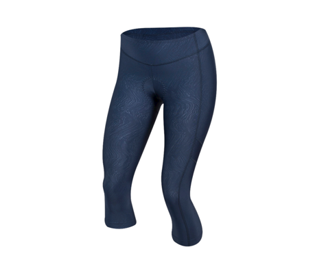 Pearl Izumi Women's Escape Sugar 3/4 Cycling Tight (Navy Phyllite Texture)