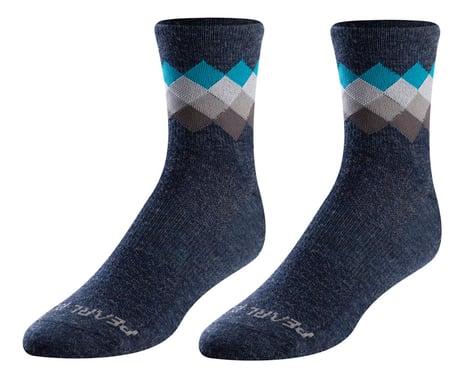 Pearl Izumi Merino Wool Socks (Navy/Teal Solitare) (M)