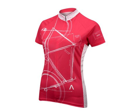 Primal Wear Women's Bike Print Jersey (Bright Pink)