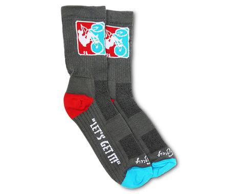 SE Racing Wheelie Socks (Grey) (S/M)