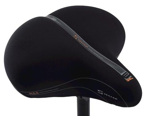 Serfas E-Gel Cruiser Saddle (Black) (Steel Rails) (Lycra Cover) (285mm)