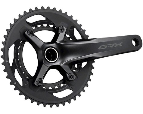 Shimano GRX FC-RX600 Crankset (Black) (2 x 11 Speed) (Hollowtech II) (165mm) (46/30T)