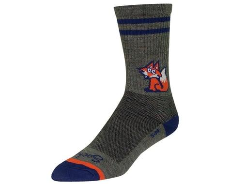 """Sockguy 6"""" Wool Socks (Foxtail)"""