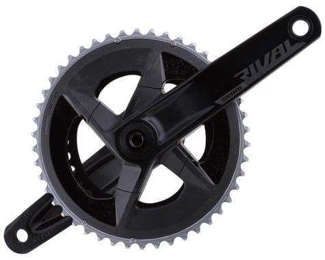 SRAM Rival AXS Crankset w/ Quarq Power Meter (Black) (2 x 12 Speed) (DUB Spindle) (D1) (165mm) (46/33T)